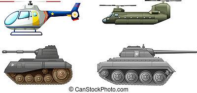 equipments, doprava, bojiště