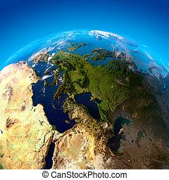 evropa, satelitní město, názor, vrchol