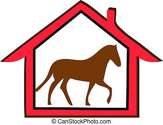 farma, kůň