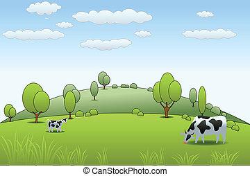 farma, kráva