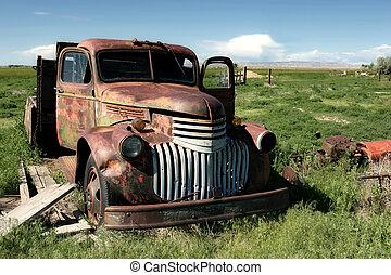 farma, podvozek, klasik