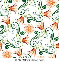 Floralský vzor na bílém pozadí