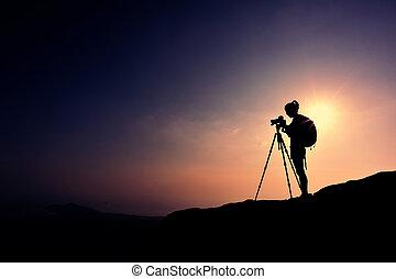 Fotí fotografka