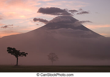 fudžijama, ii, hora, východ slunce