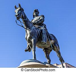 generál, soctt, washington dc, socha, winfield, scott, poručík, kruh
