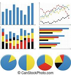 graf, bar, kruhový diagram