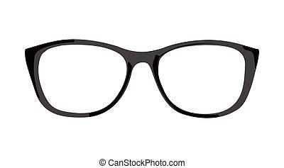 grafické pozadí, konstrukce, brýle, čerň, neposkvrněný