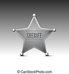 grafické pozadí., neposkvrněný, odznak, eps10, sheriff's
