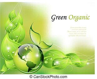grafické pozadí, organický, nezkušený