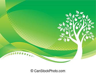 grafické pozadí, strom, nezkušený