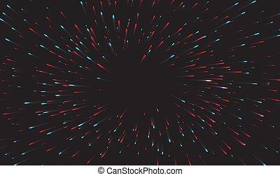 grafické pozadí., tunel, abstraktní, pevně, vektor, potok, odsun, data