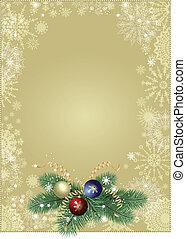grafické pozadí, vánoce, zlatý