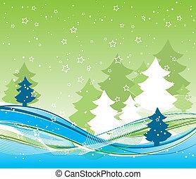 grafické pozadí, vektor, vánoce, šablona