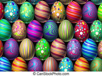 grafické pozadí, velikonoční obalit v rozšlehaných vejcích
