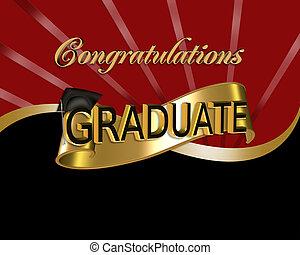 gratulace, grafický, absolvent