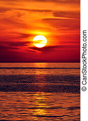 greece., kréta, sunset.