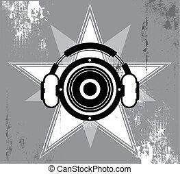 grunge, design, hudba, hvězda