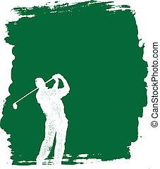 grunge, golf, grafické pozadí