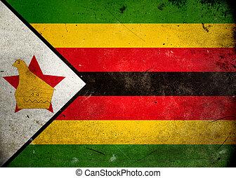 Grunge praporčík zimbabwe