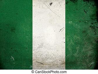 Grunge vlajková nigeria