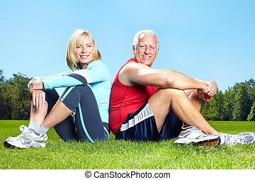 Gym, fitness, zdravý životní styl.