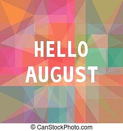 Haló, augustská karta 1