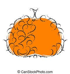 Halloweenská dýně, květinářství. Vector Ilustrace pro váš návrh