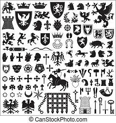 Heraldické symboly a elementy