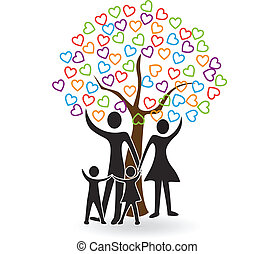 herce, strom, rodina, emblém