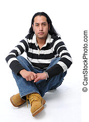 Hispánec sedí