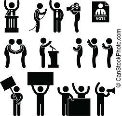 hlasovat, politik, volba, zpravodaj