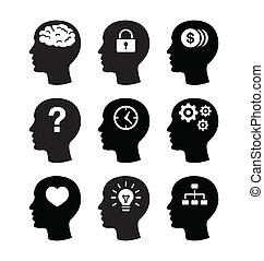 Hlavní mozková vecotr ikona