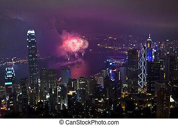 Hong Kongský ohňostroj v čínském roce