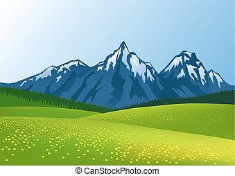 hora, grafické pozadí