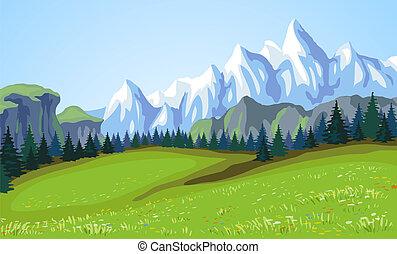 Horská krajina.