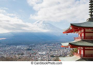 Horská krajina fuji