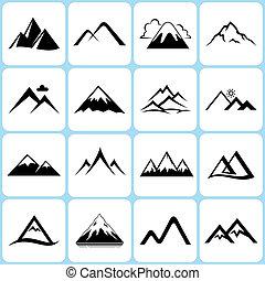 Horské ikony nastaveny