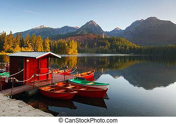 Horské jezero ve Slokia tatra - strbskeo plao
