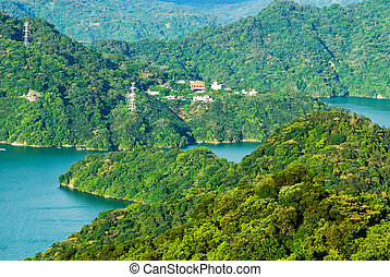 hory, jezero, obehnat