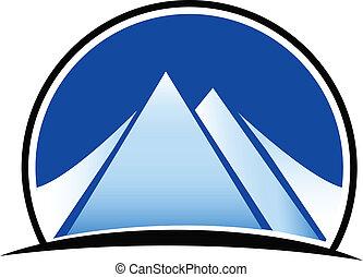 hory, vektor, emblém