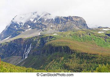 hory, vodopády