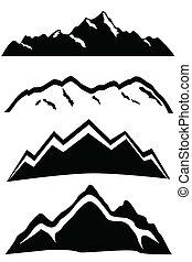 Hory vrcholí krajina