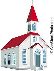 hrabství, maličký, křesťanský, církev