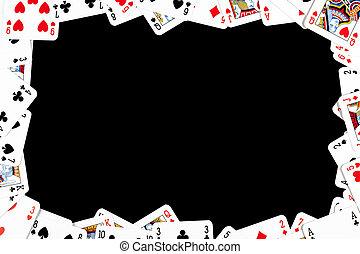 Hrací rám z pokeru