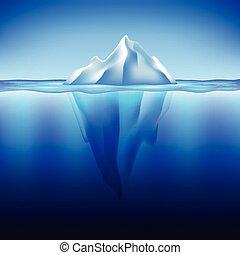 Iceberg ve vodním vektoru