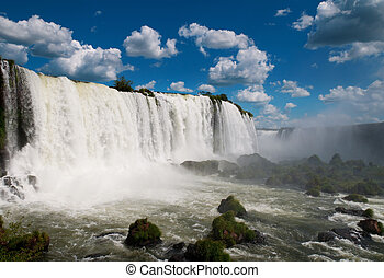 Iguazuské vodopády. Argentina, Brazílie, jižní Amerika