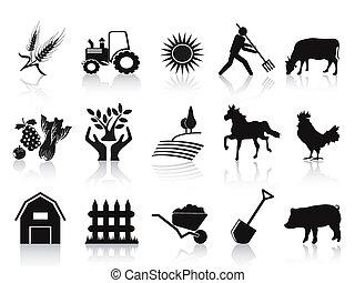 ikona, čerň, dát, farma, zemědělství