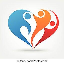 ikona, láska, rodina