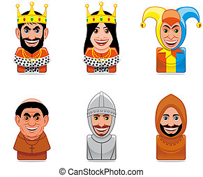 ikona, národ, ages), avatar, (middle