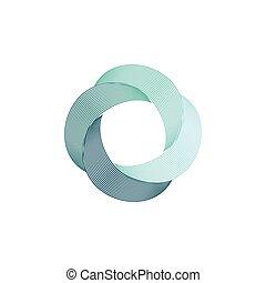 illustration., uragán, ikona, znak, točit se, vektor, osamocený, emblém, abstraktní, bumerang